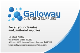 Galloway Cleaning - Business Card