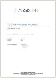 Website Proposal Document Example